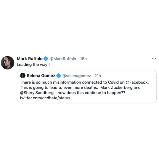 Selena Gomez accuse encore Facebook de désinformer sur la Covid-19 !