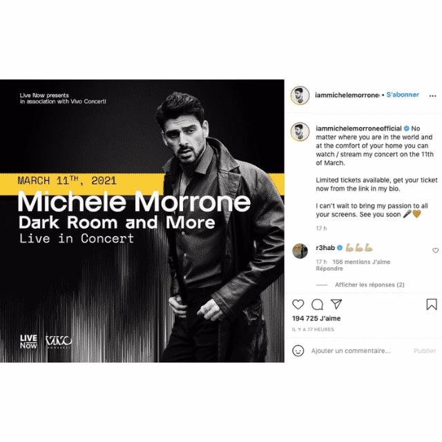 Michele Morrone lance un énorme concert pour tous ses fans !