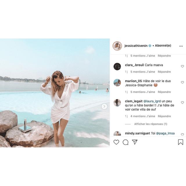 Jessica Thivenin (Les Marseillais) sexy les pieds dans l'eau sur Instagram !