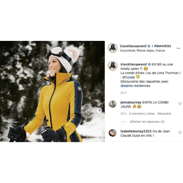 Iris Mittenaere se prend pour Kill Bill avec sa combinaison de ski !