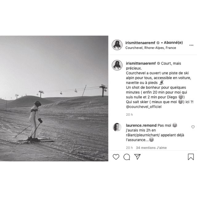 Iris Mittenaere dévale les pistes de ski comme un pro sur Instagram !