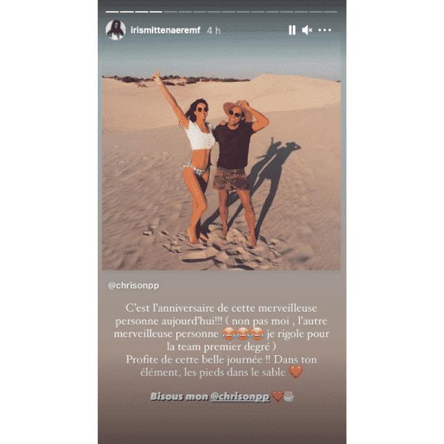 Iris Mittenaere fête l'anniversaire de Christopher Davin sur Instagram !
