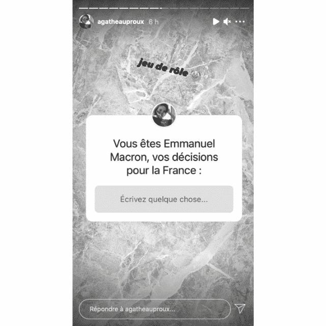 Agathe Auproux lance un jeu de rôle sur Emmanuel Macron !