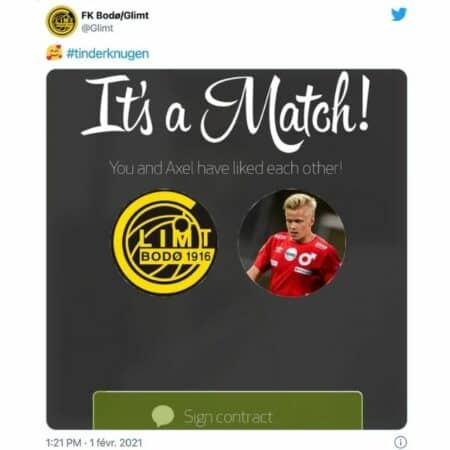 Tinder: le transfert d'un joueur suédois fuite à cause de l'appli !
