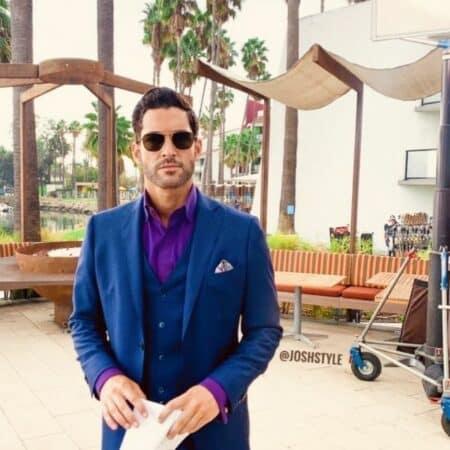 Tom Ellis (Lucifer) classe en smoking sur le tournage de la série