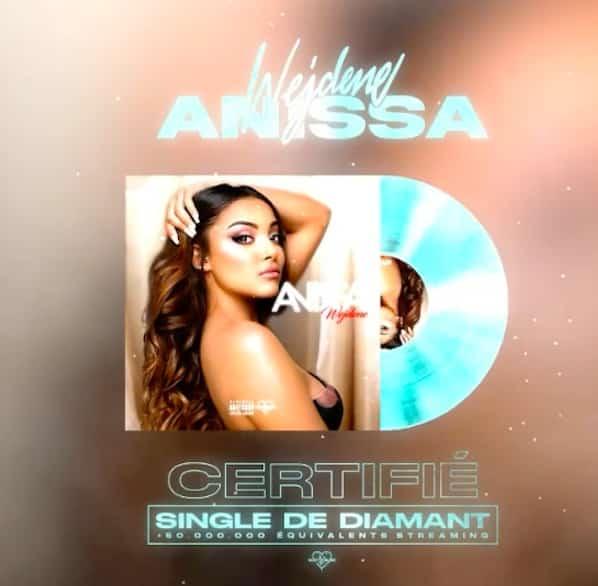 """Wejdene: son titre """"Anissa"""" est certifié single de diamant !"""
