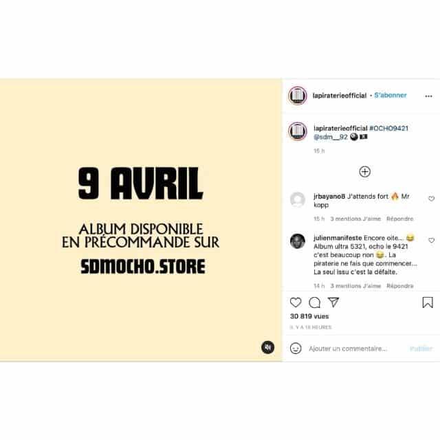 Booba annonce son prochain feat avec SDM sur l'album «Ocho» !