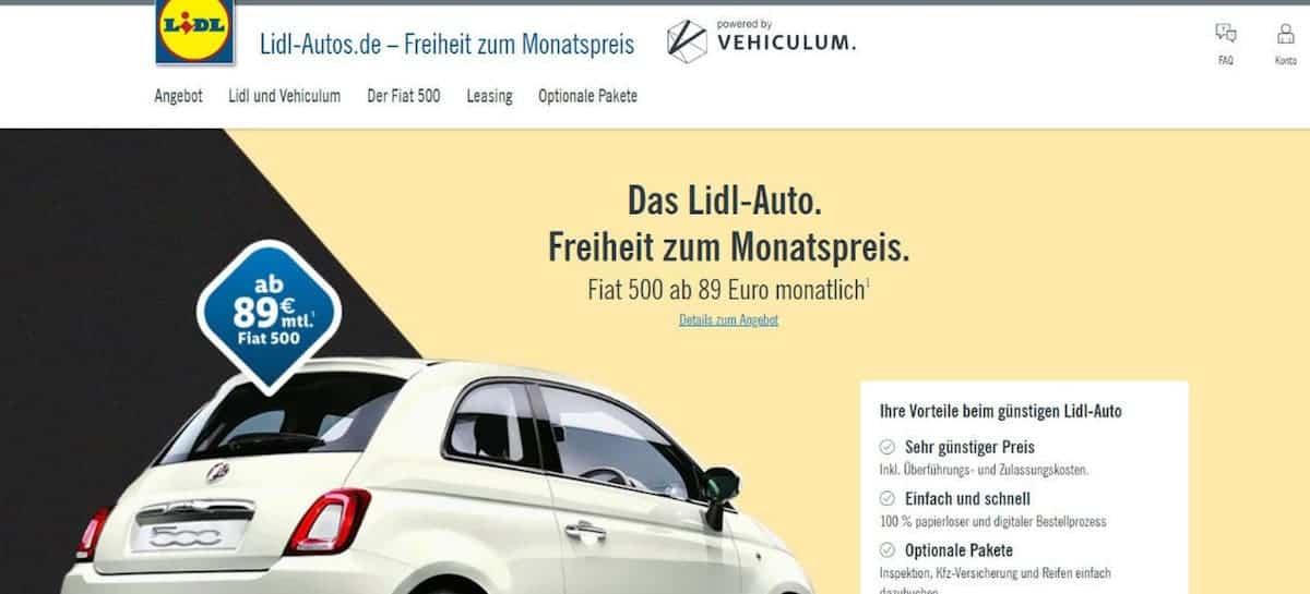 Lidl crée la surprise et se lance dans la vente de voitures !