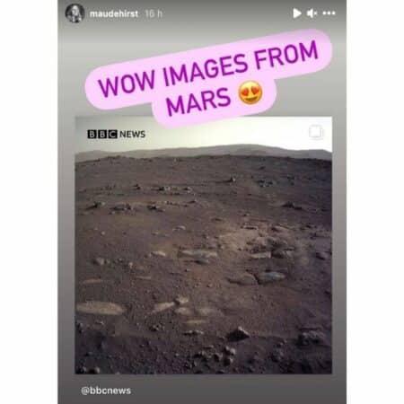 Maude Hirst (Vikings) émerveillée par des images de la planète Mars !