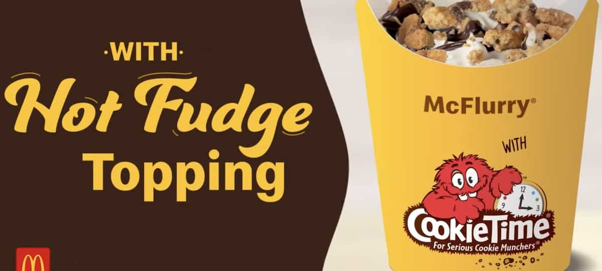 Mcdonald's sort son tout nouveau McFlurry goût cookie !