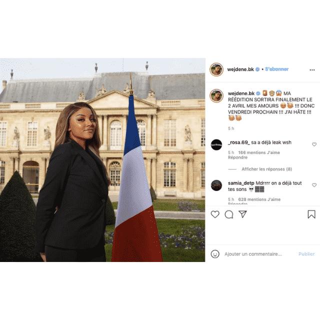 Wejdene change ses plans pour la sortie de sa réédition sur Instagram !