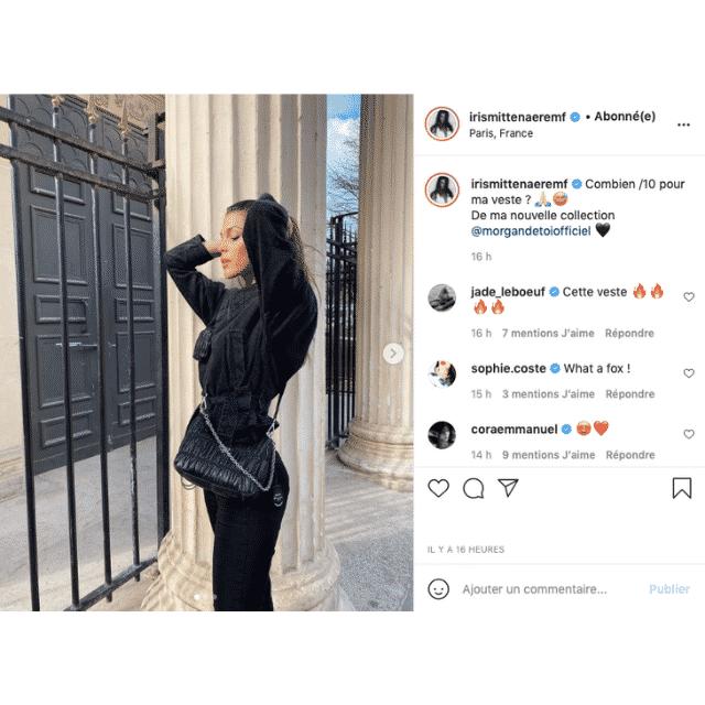 Iris Mittenaere ose le total look noir et fait sensation sur Instagram !