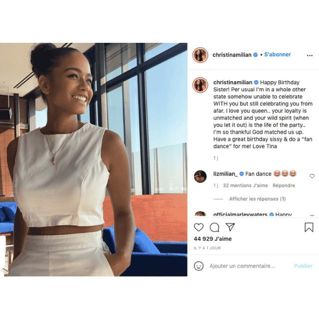 Christina Milian: son tendre message pour l'anniversaire de sa sœur !