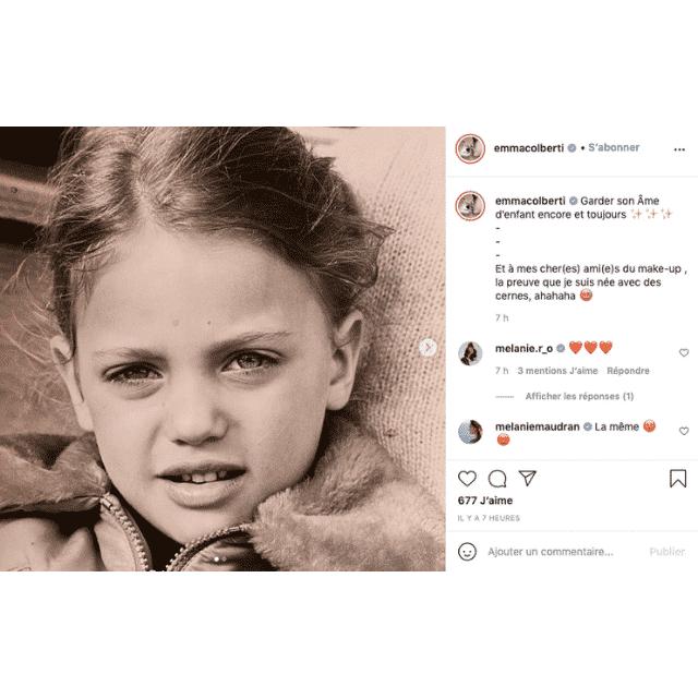 Emma Colberti (Un si grand soleil) révèle des jolies photos d'enfance !