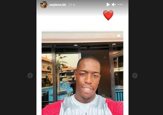 Wejdene fan de la beauté de son producteur Feuneu sur Instagram !
