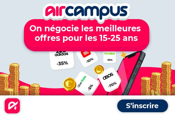 un bon plan étudiant Air Campus