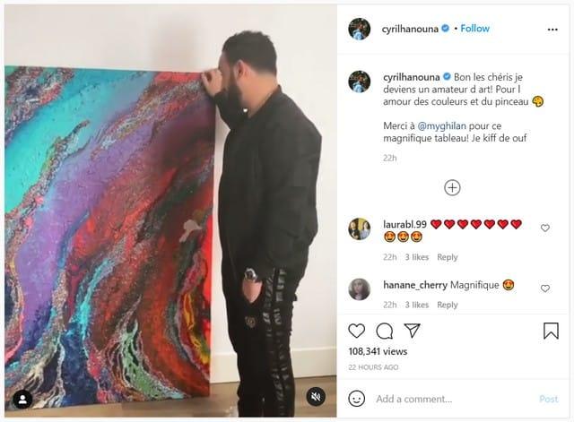 Cyril Hanouna amateur d'art il craque pour un magnifique tableau !