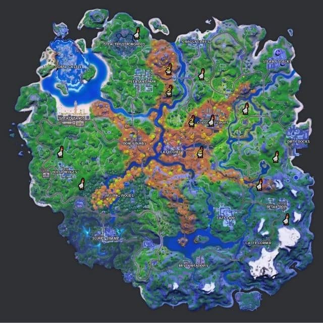 Fortnite saison 6: où trouver les poules sur la carte du jeu ?