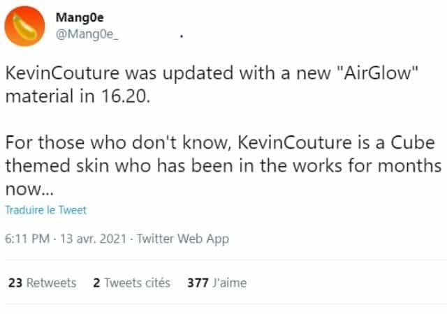 Fortnite un skin pour le personnage Kevin le Cube bientôt disponible