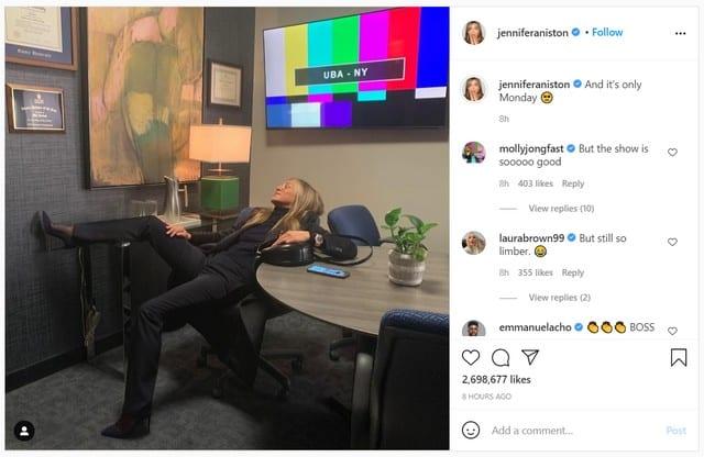 Jennifer Aniston fatiguée par le tournage de «The Morning Show» !