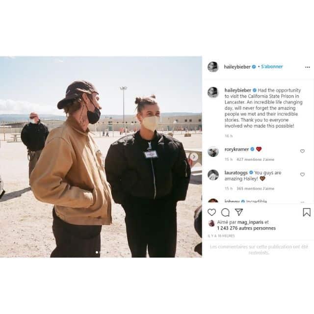 Justin Bieber et Hailey Baldwin visitent une prison et se confient !