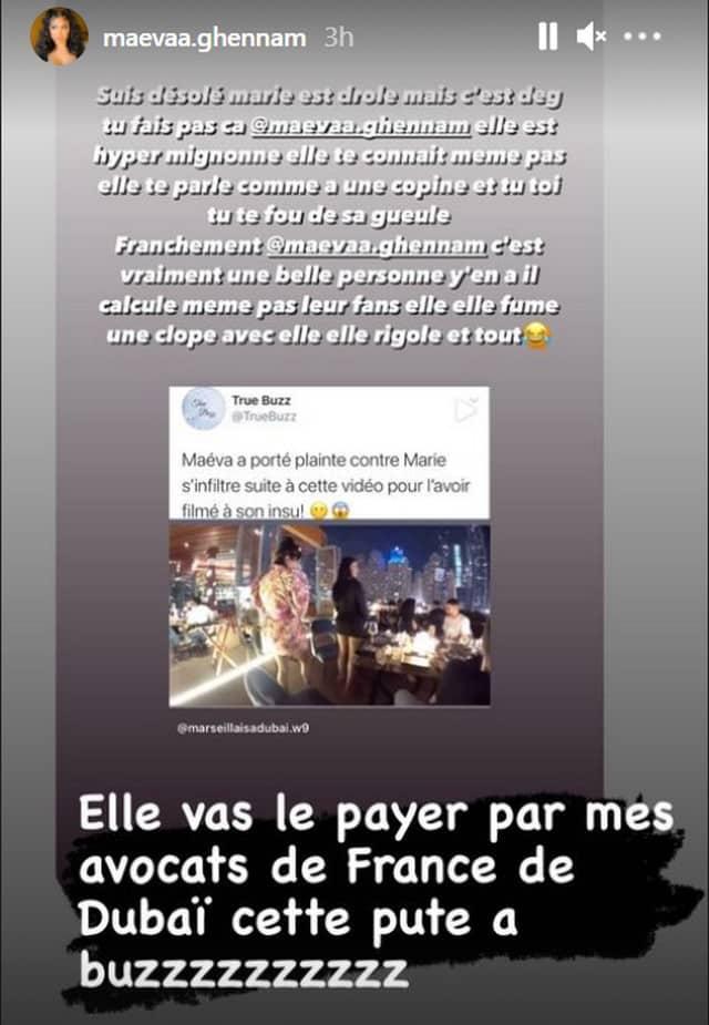 Maeva Ghennam (Les Marseillais) porte plainte contre Marie S'infiltre !