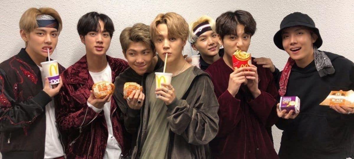 McDonald's lance un menu spécial BTS en hommage au groupe coréen !