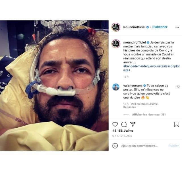 Moundir (Koh-Lanta) dévoile une photo choc de son hospitalisation !