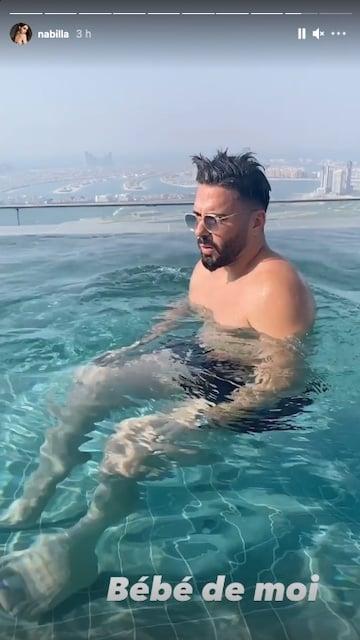 Nabilla et Thomas Vergara s'organisent une journée piscine à Dubaï !