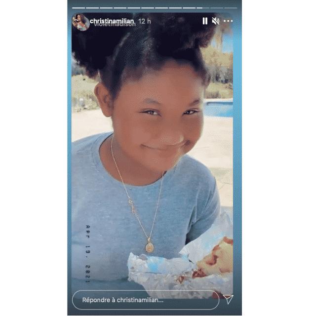 Christina Milian partage un moment gourmand avec sa fille Violet !