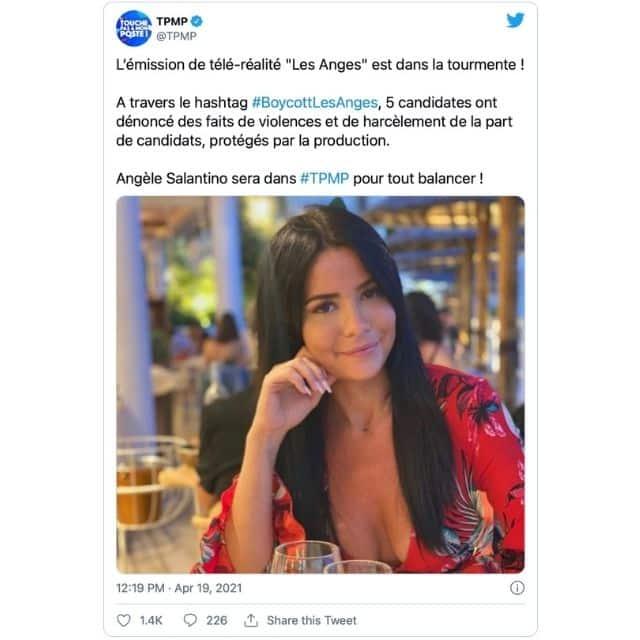 TPMP: Angèle Salentino s'exprimera sur la polémique des Anges !