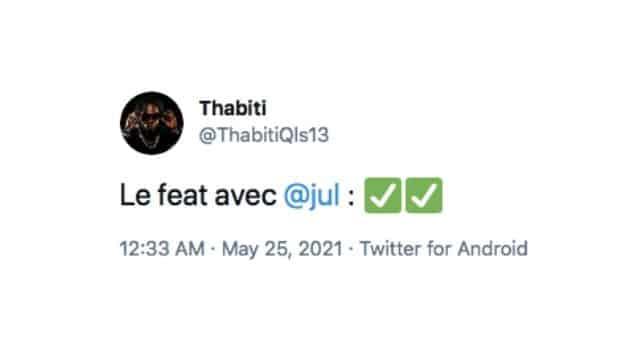 Jul et Thabiti viennent d'enregistrer un morceau ensemble !