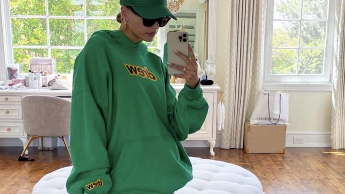 Justin Bieber Hailey Baldwin très sexy avec un total look vert !