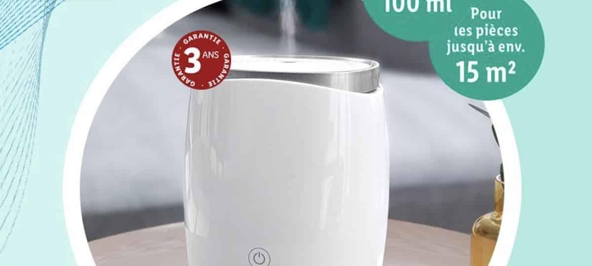 Lidl lance un diffuseur de parfum à ultrasons à moins de 20 euros !