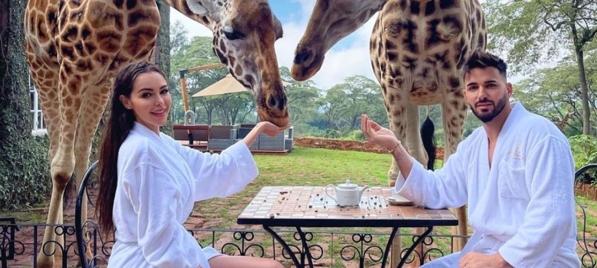 Nabilla: son mari Thomas Vergara attaqué par une girafe au Kenya !