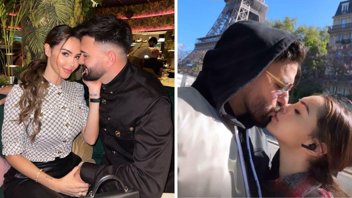 Nabilla et Thomas Vergara s'offrent un baiser devant la Tour Eiffel !