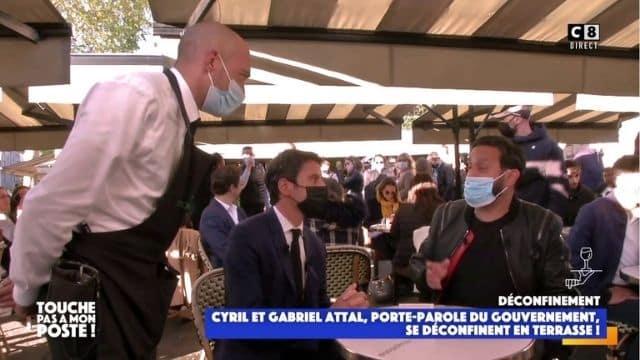 TPMP: Cyril Hanouna en terrasse avec Gabriel Attal en plein Paris !