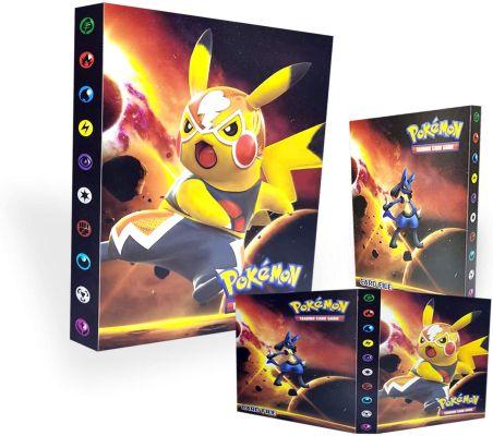 8 Porte-Cartes Pokémon,Livre de Cartes Livre de Cartes de Collection Pokémon, Album de dresseur Pokémon Card GX EX. L'album a 30 Pages et Peut contenir 240 Cartes. (Pikachu)