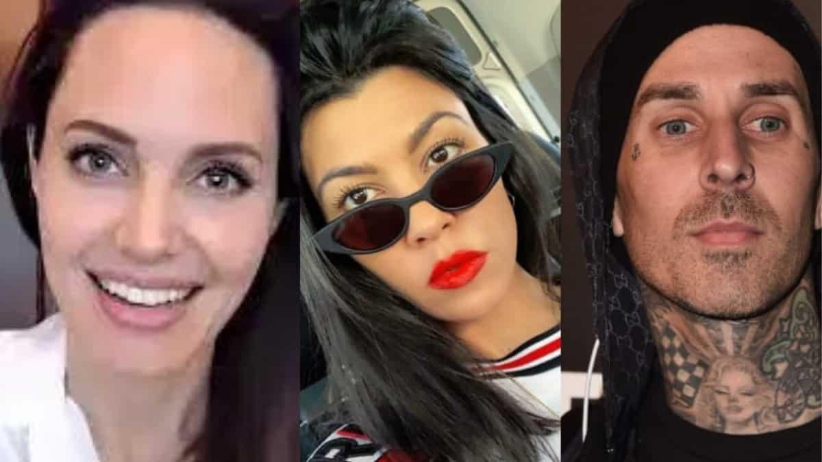 Angelina Jolie copiée par Kourtney Kardashian et Travis Barker ?
