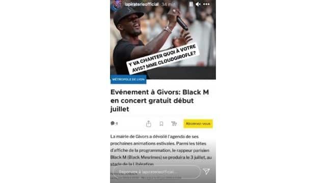 Booba ridiculise le rappeur Black M qui va donner un concert gratuit