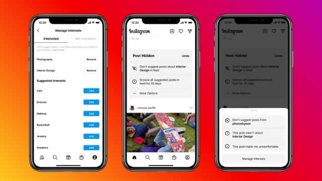 Instagram une nouvelle fonctionnalité sur les contenus de vos amis !
