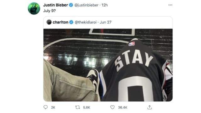 Justin Bieber tease la sortie de son feat avec The Kid Laroi «Stay» ?