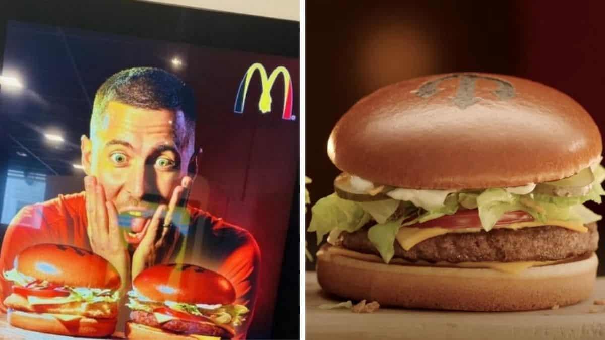 McDonald's sort de nouveaux burgers avec Eden Hazard et fait le buzz !