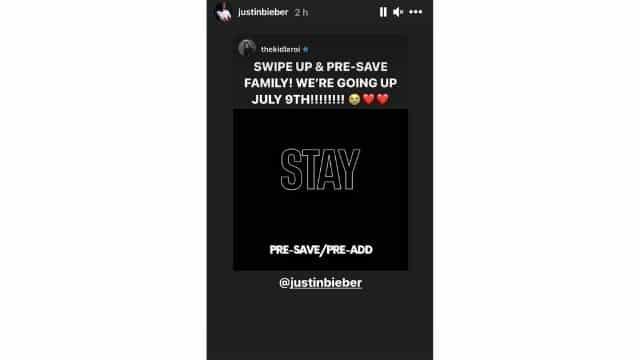 Justin Bieber et The Kid Laroi révèlent enfin la sortie de «Stay»