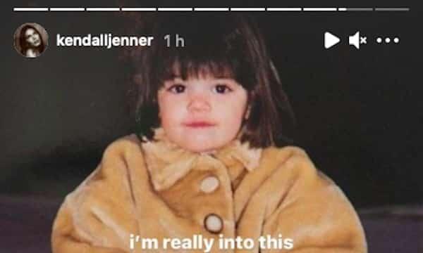 Kendall Jenner fait craquer ses fans avec une photo d'elle enfant !