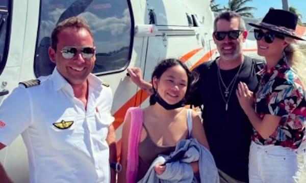 Laeticia Hallyday survole Saint-Barth en hélicoptère avec Jalil Lespert !