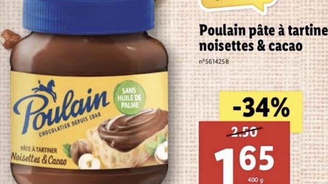 Lidl vend la meilleure pâte à tartiner à moins de 2 euros