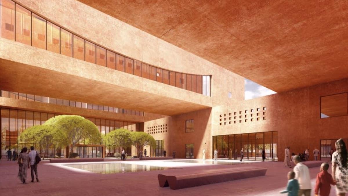 Etudiant: un futur campus en béton rose prévu aux Émirats Arabes Unis ?