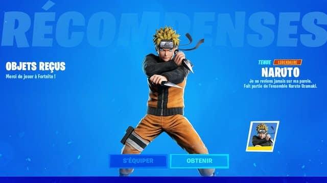 Fortnite: un skin Naruto bientôt disponible au prochain pass de combat ?