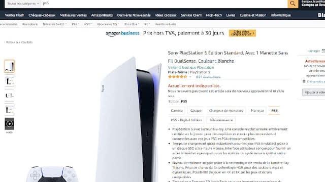 PS5: la console disponible sur Amazon sous 7 jours mais plus chère ?